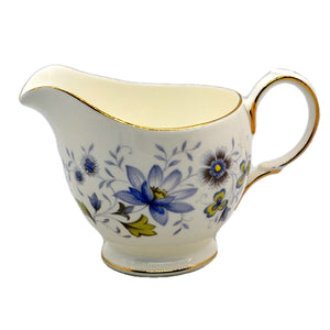 Colclough Rhapsody in Blue Milk Jug Bone China mint condition 8683