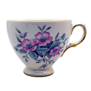 Vinateg Colclough china tea cup colpelia 8378 pattern C shape plain rim