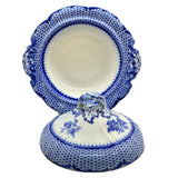 Antique Cauldon Blue and White china pattern ruskin