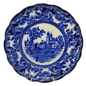 Antique blue and white togo china plate