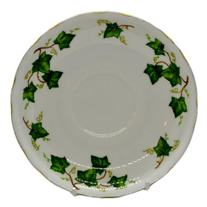 deep breakfast saucer Colcough ivy leaf china