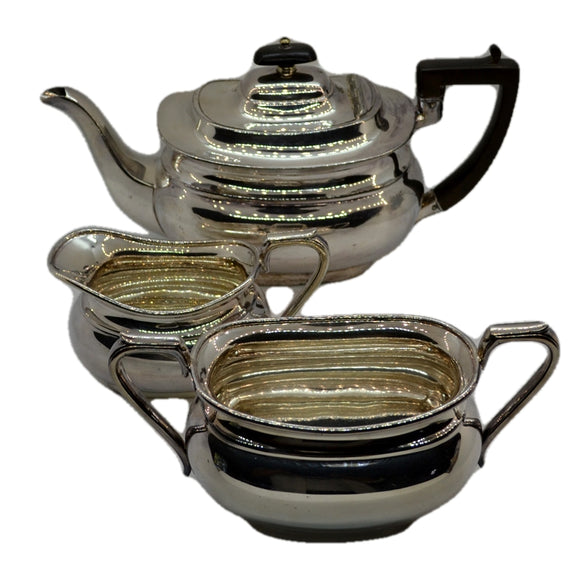 Fine Joseph Rodgers & Sons Silver Plated Metal Tea Set c1910