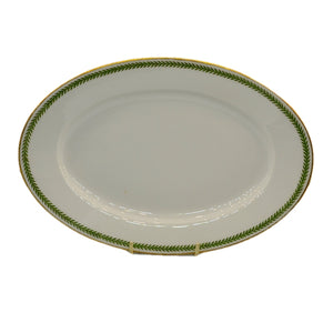 Emile Bourgeois Limoges Oval Serving Plate Old Viennese Leaf