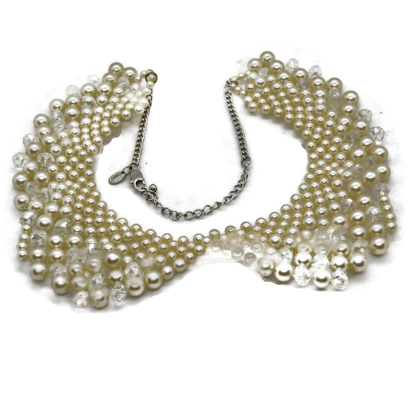 M&S jewellery necklace in faux pearl and crystal