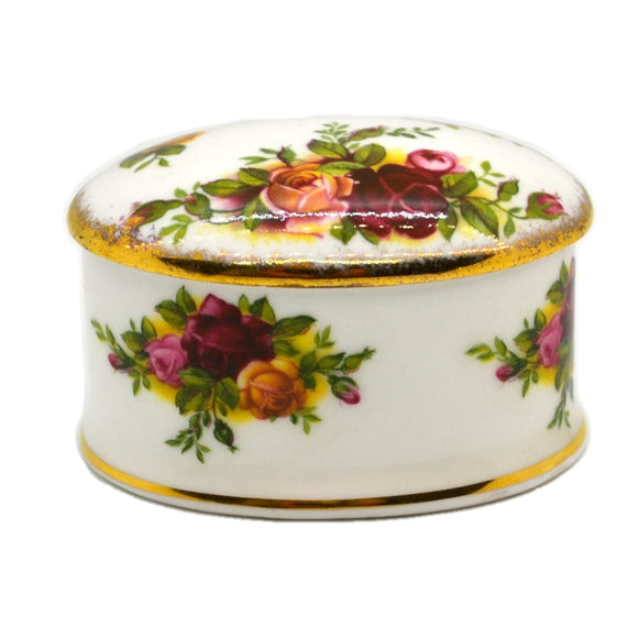 Royal Albert China Old Country Roses Oval Trinket Box