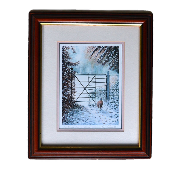 The Kissing Gate in Winter Signed Print