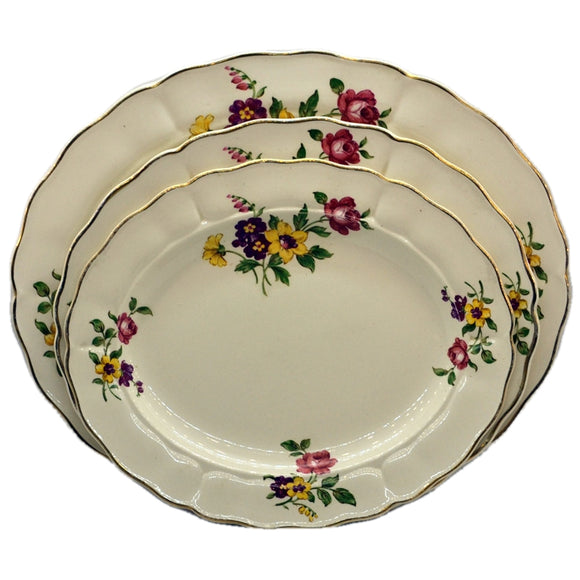 Grindley China Platter Set Royal Petal Floral Ironstone China