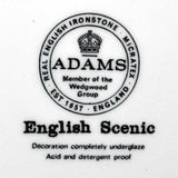 Adams english scenic china marks