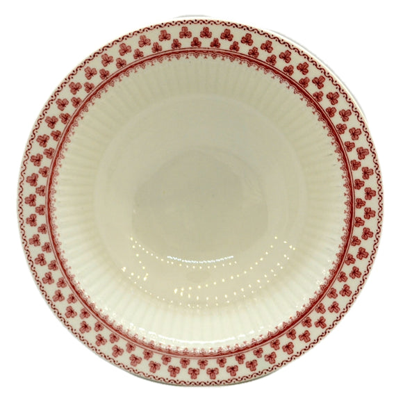 Adams Victoria Red and White china Cereal Bowl