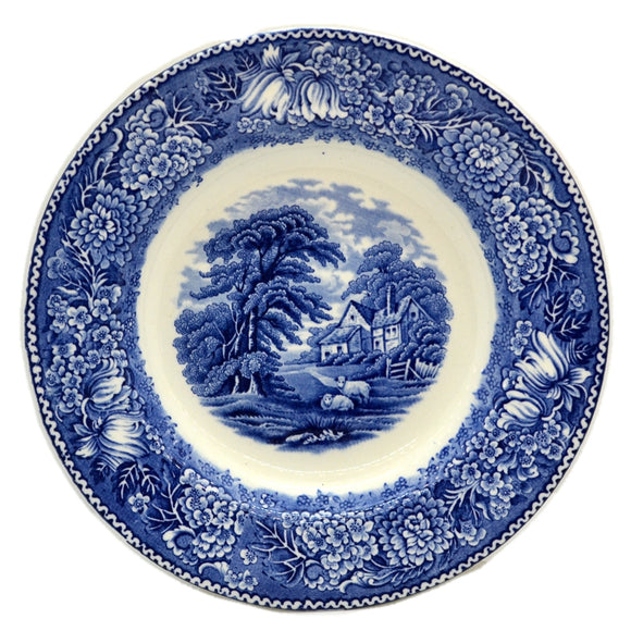Adams English Countryside Blue and White China 8-inch Plate