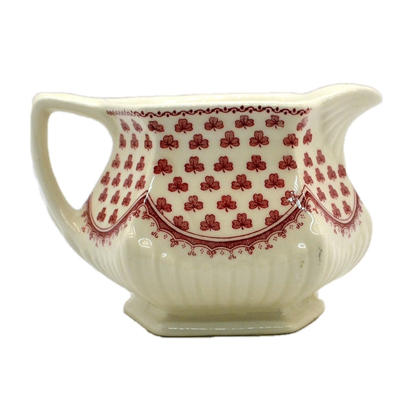 Adams Victoria Red and White china Milk Jug