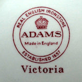 Adams Victoria china mark red and white china