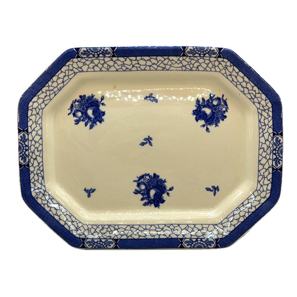 Adams Juliet Blue and White China 14.5-inch Platter 1931