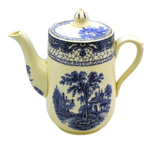 Adams Landscape vintage blue and white coffee pot