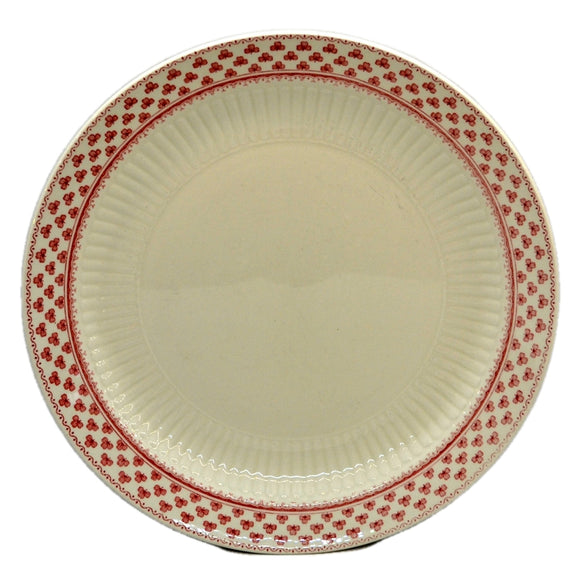 Adams Victoria Red and White china 10-inch Dinner Plate