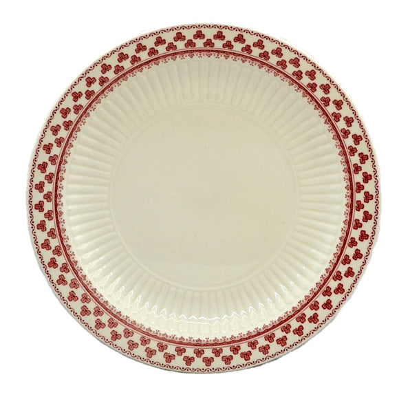 Adams Victoria Red and White China Side Plate