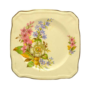 Alfred Meakin vintage floral china square side plate 1940