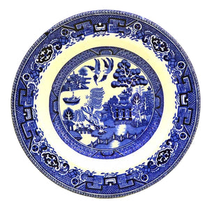 alfred meaking blue and white china old willow pattern bowls