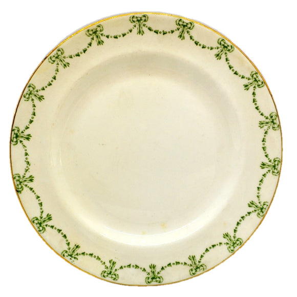 Allertons Ltd Old Englich Green and White China Georgian Side Plate