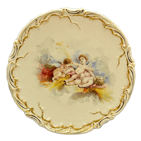 Antique Sarreguemines Cherub China Plate c1875-1900