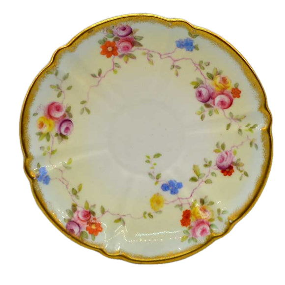 Antique Aynsley China Saucer Hand Painted 9362 c1891-1910