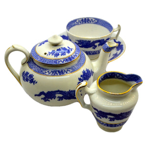 Cauldon china blue dragon tea set