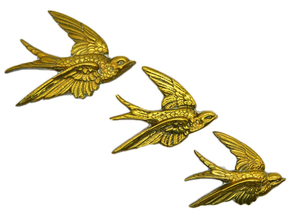 Antique Brass Birds