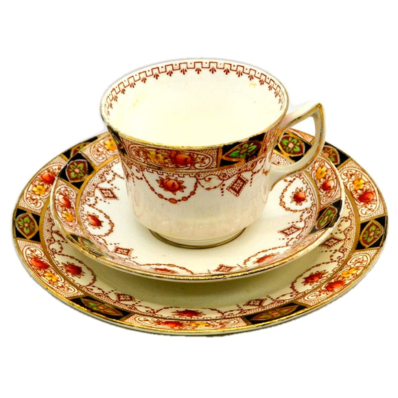 Salisbury China Bradleys Wyn Teacup Trio