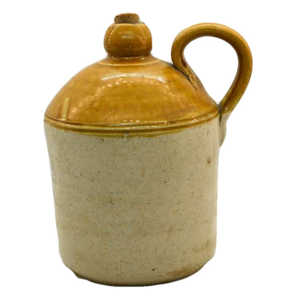 Antique Stoneware Salt-Glazed Flagon with Cork