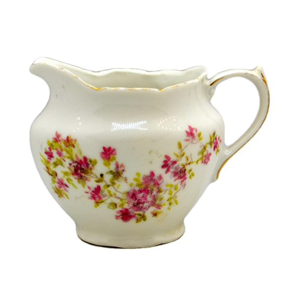Antique Floral China Procelain Milk Jug