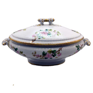 Antique floral china tureen cockson and seddon 1870's