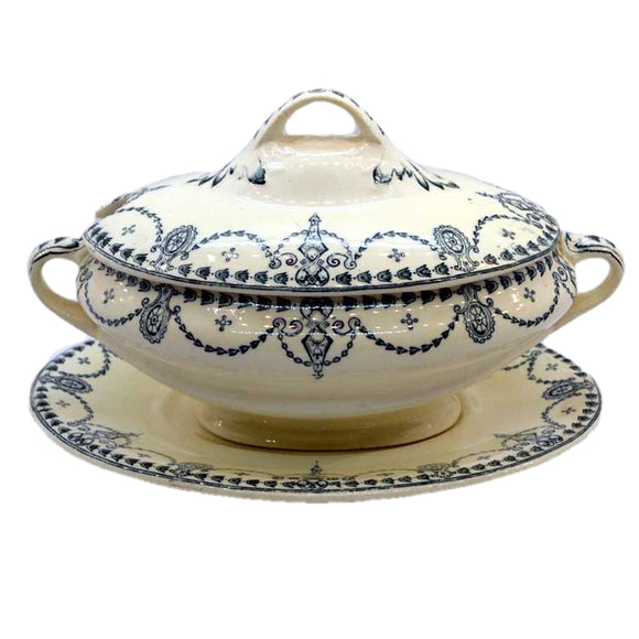 Antique staffordshire petit tureen sauce boat