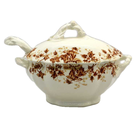antique sauce tureen and ladle