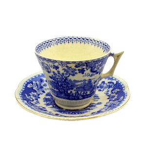1910-1920 seaforth blue and white breakfast cup and saucer