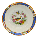 Porcelain China Serving Bowl with Oriental Birds