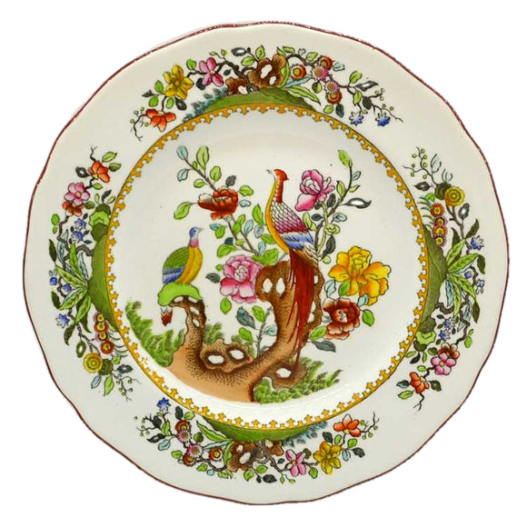 copeland spode pheasanr plate 2/5660 dated 1911