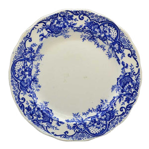 Antique wild rose blue and white 1825-1840 china plate
