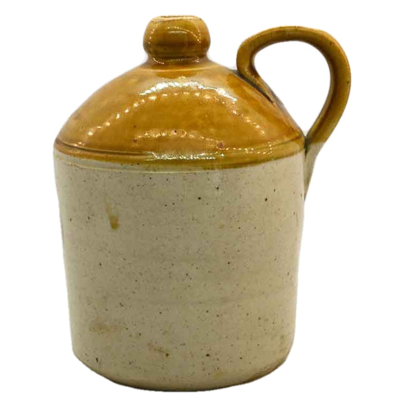 Antique Stoneware Salt-Glazed Flagon