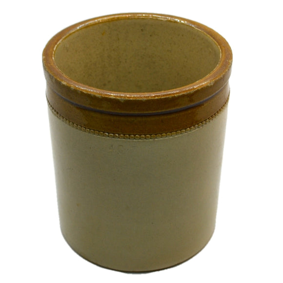 Antique Salt Glazed Stoneware Jar 6-inch