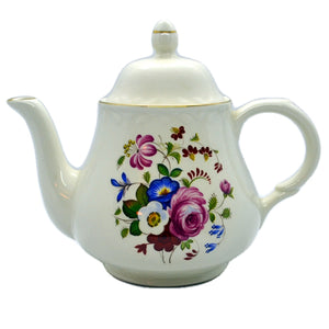 floral teapot vintage arthur wood and sons