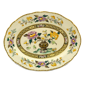 Antique Mason's Chinese Peony Ashworth Brothers 10.25-inch Oval Platter