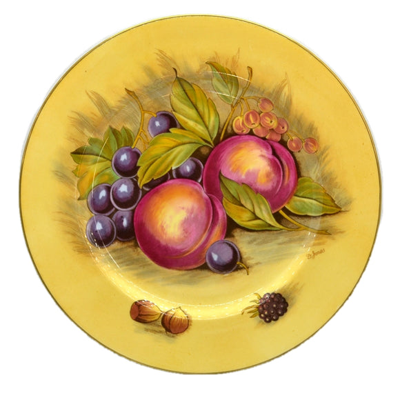 Aynsley China Orchard Gold D Jones 10.5-inch Plate