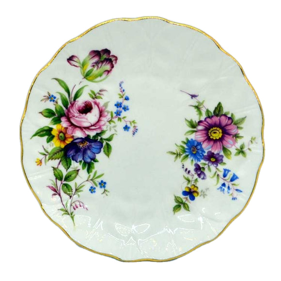 Aynsley hand painted floral china side plates