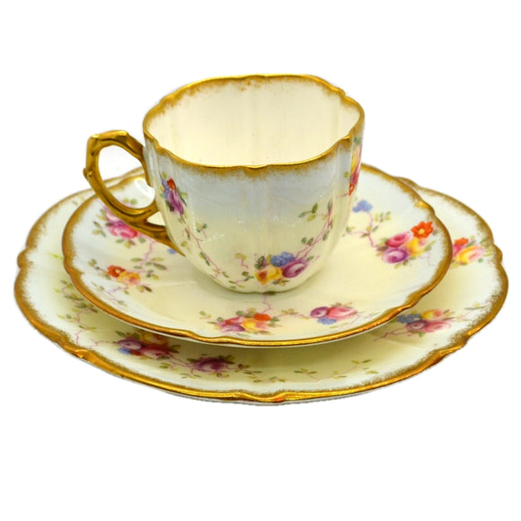 Antique Aynsley China Tea Cup & Saucer & Side Plate c1891-1910