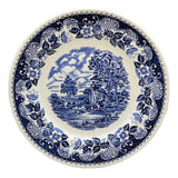 vintage blue and white china barratts elizabethan dinner plates