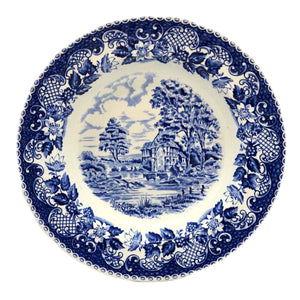 Barratts Elizabethan blue and white china soup bowls