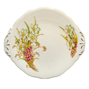 Shore and Coggins Ltd Bell China Spring Bouquet Cake Plate 1936