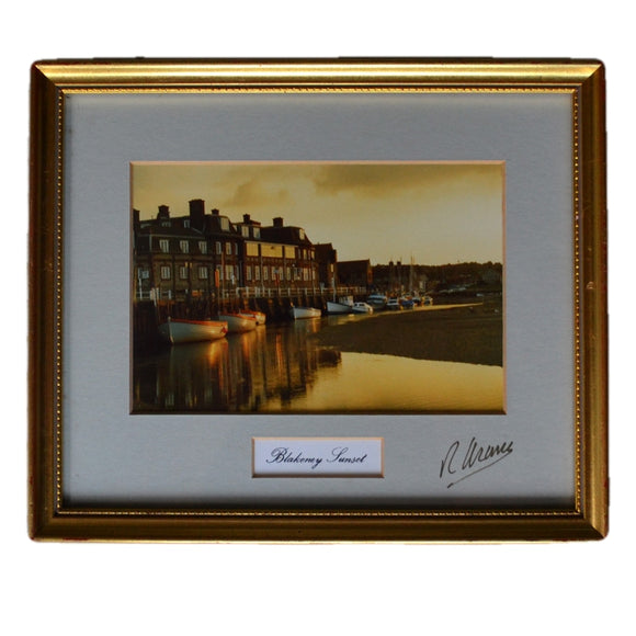 Framed Blakeney Quay Sunset Photograph