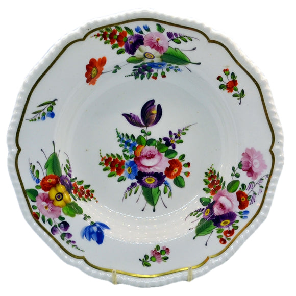 Antique hand painted derby china bowl