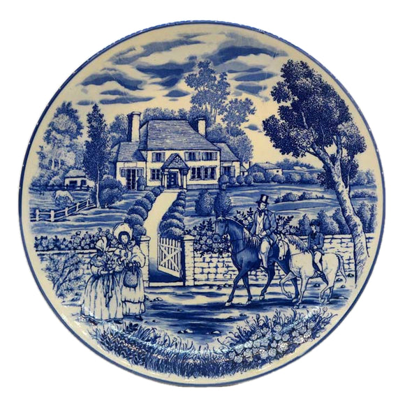 Vintage Blue and White China Charger Plate